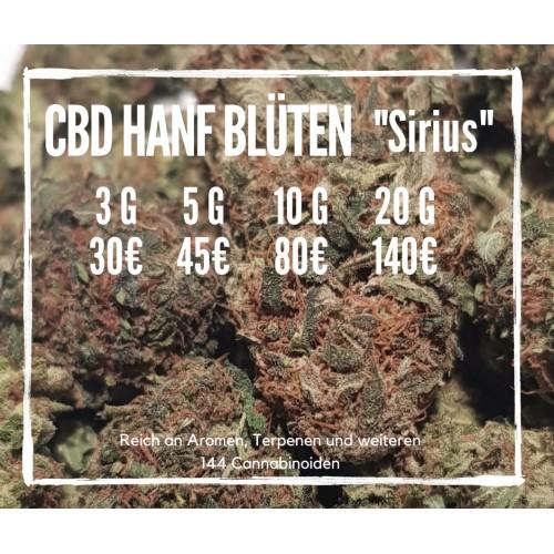 """CBD Blüten """"Sirius"""" - Strawberry Kush Indoor CBD Hanf"""